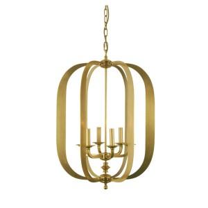 Lustre de Metal Dourado Clássico 55X55X76CM