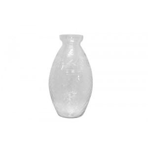 Vaso/Cachepot em Vidro Transparente Trabalhado A31XD15 cm