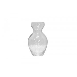 Vaso/Cachepot em Vidro Transparente Trabalhado A15XD6 cm