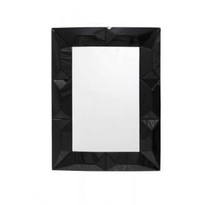 Espelho Veneziano Retangular Bordas em Relevo Preto 80X110CM