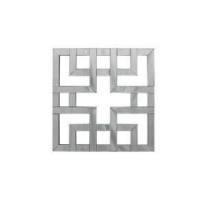 Espelho Veneziano Decorativo Quadrado Geométrico C60XA60 cm