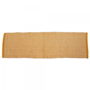 Tapete Passadeira de Algodão Amarelo Zig Zag 120X35 cm
