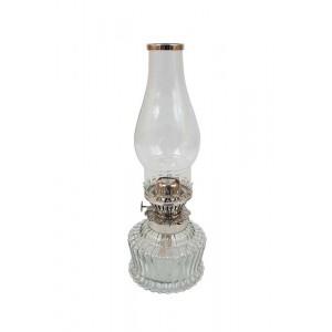 Lamparina de Vidro com Controlador de chamas 36X13X13 cm