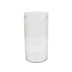 Vaso/Cachepot em Vidro Trabalhado 30X15,5 cm