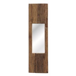 Espelho c/ Moldura em Madeira Rústica de Demolição 25X4X90 cm