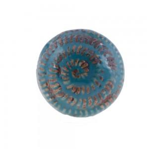 Puxador Porta Ceramica Azul 4X4X4CM