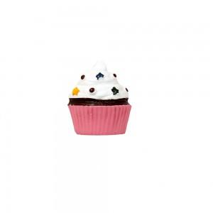 Puxador Decorativo Gastronomia Cupcake em Resina 4x5x6 cm