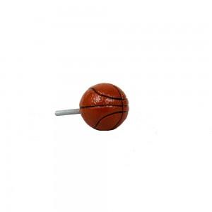 Puxador Decorativo Esporte Bola de Basquete em Resina 3x3x6