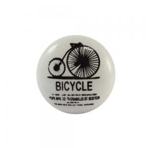 Puxador Cerâmica Bicycle Branco 3x3xx8cm