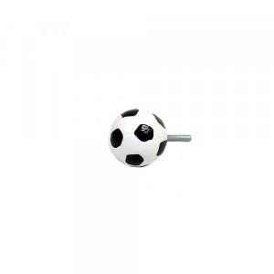 Puxador Decorativo Esporte Bola De Futebol em Resina 3x3x6cm