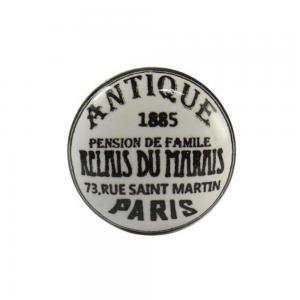 Puxador Cerâmica Antique Branco 4X4X1,5 cm