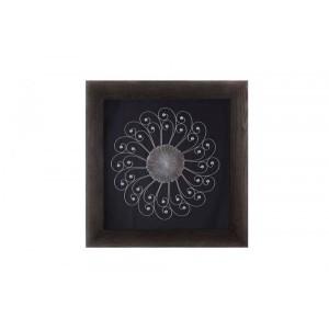 Quadro Decorativo Flor em Metal 8X92X92 cm