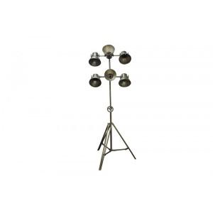 Luminária de Ferro Tripé Retrô Sêxtupla 60X20X176 CM