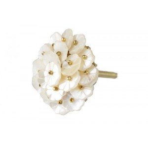 Puxador Madrepérola Mini Flores 4x4x2 cm
