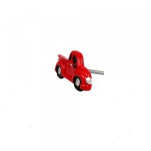 Puxador Decorativo Réplica Caminhonete Vermelha em Resina
