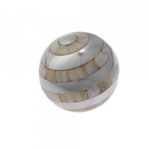 Bola Decorativa de Metal e Madrepérola Média 10cm