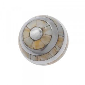 Bola Decorativa de Metal e Madrepérola 13cm