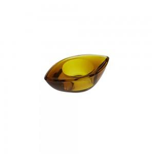 Suporte Vela Gota Amarelo 3X6X10CM