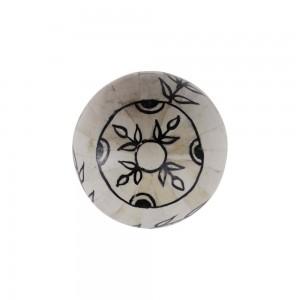 Bola Decorativa em Osso Pintada a Mão Pequena D8 cm