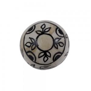 Bola Decorativa em Osso Pintada a Mão Média D10 cm