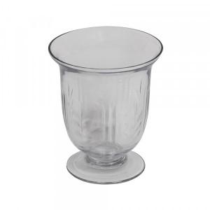 Vaso em Vidro Trabalhado c/ Base A10XD8,5 cm