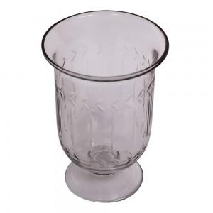 Vaso/Cachepot em Vidro Trabalhado c/ Base A16XD12 cm