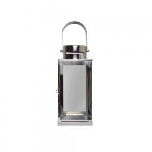 Lanterna Aço Inox Polido com Alça – Médio 18,3X38CM