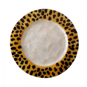 Sousplast Pintado Tigre Branco 2X33CM
