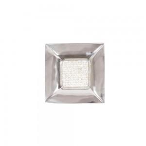 Prato de Alumínio com Madrepérola Decorativo 5x35x35cm