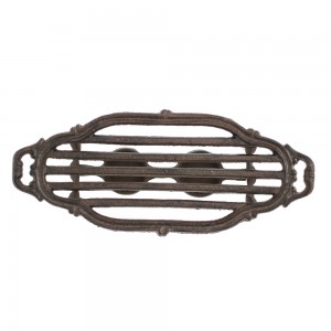 Aquecedor p/ Tigela Rechaud em Ferro c/ Dois Suporte p/ Vela 32x14x6 cm