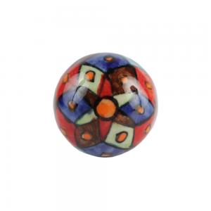 Puxador Cerâmica Decorado Multicor A6xD3 cm