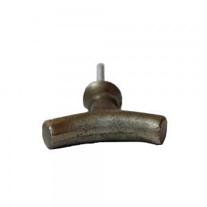 """Puxador Metal em formato """"Y"""" P8xL4xA4,5 cm"""