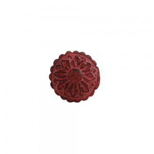 Puxador em Metal Circular Flor Rosé 3x4x4 cm