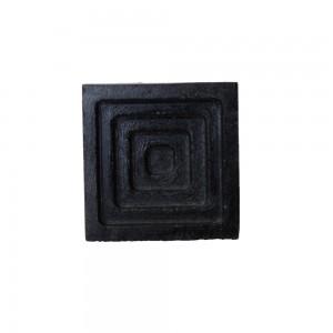 Puxador Quadrado Concreto Escuro 8x5x5 CM
