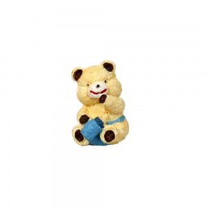 Puxador Resina Urso Mamadeira Azul 2X3X4CM