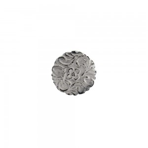 Puxador Provençal Rústico Branco Decorado em Metal A4XL4XC3 cm