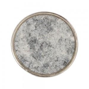 Puxador Mármore Circular com Metal Cromado D3,5xP2,5 cm