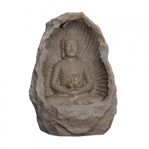Fonte c/ Buda em Poliresina c/ Iluminação 40X29X56 cm