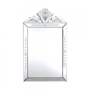 Espelho Veneziano Retangular Bordas Detalhadas 50X30CM