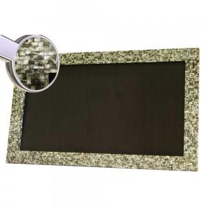 Moldura para Espelho em Madrepérola Preta A211xL131 cm