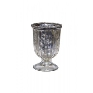 Lanterna Taça Decorativa em Vidro Metalizado  9x6 cm