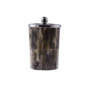 Porta Escova de Dente em Chifre e Metal A9xD7 cm