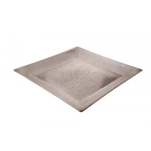 Bandeja de Metal Bronze Quadrada Arabesco 42x42CM