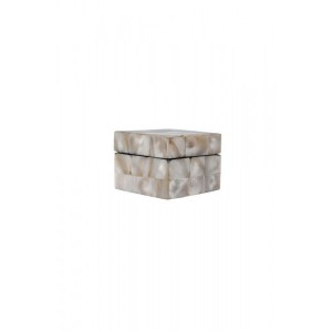 Caixa Decorativa em Madrepérola Pequena A4xC5xL5 cm