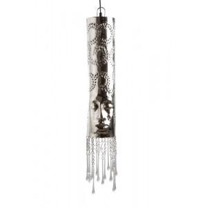 Lustre de Metal Rosto Prata 13X13X51 cm