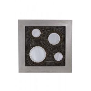 Quadro 4 Espelho Circular Cinza A123xC123xE11CM