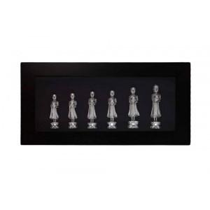 Quadro Decorativo 6 Budas A63xC123xE12 cm