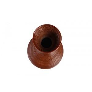 Vaso de Madeira Marrom Escuro 72x22cm
