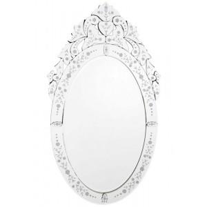 Espelho Veneziano Oval Prata 100X57cm
