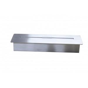 Queimador Ecológico p/ Lareira em Aço Inox C50xL16xA8 cm